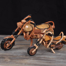 Rattan motorcycle Decoration solid wood Harley motorcycle Decoration Thailand handicrafts(A359)(China)