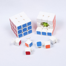 Professional Magic Cube Puzzle Stickers Smoooth 3 Layer Deformation Fidget Cube Spinner Brinquedos Magic Toys For Children 60K01(China)