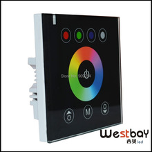 RGB LED touch controller 24V 12V DC LED Touch Panel Full-color Controller rgb led strip controller White,Black available(China)