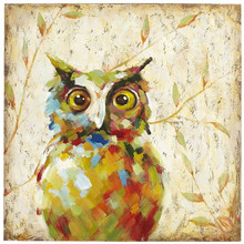 Fashion Modern Unframed Handwork Canvas Oil Paintings Cute Night Owl Painting Home Bedroom Decor Animal Nighthawk Artwork