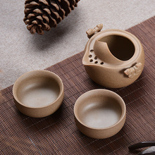 New Chinese Kung Fu Ceramic Tea Pot Cup Set Creative Drinkware Travel Quick Kettle Mug Portable Porcelain Teapot(China)