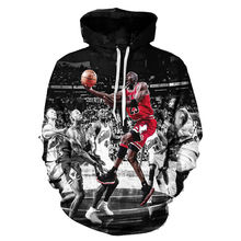 Jordan Print 3D Men Hoodies And Sweatshirts Fashion Men's Clothing Loose Hooded Sweats Tops Unisex Coats Autumn Winter Pullovers(Hong Kong)
