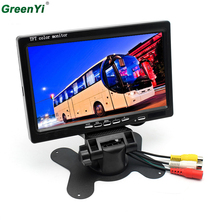 "Car Mirror Monitor 12V 24V Vehicle Backup Monitor 7"" Monitor AV Cables Hardwire for Bus / Truck Van / Trailer / RV / Campers"