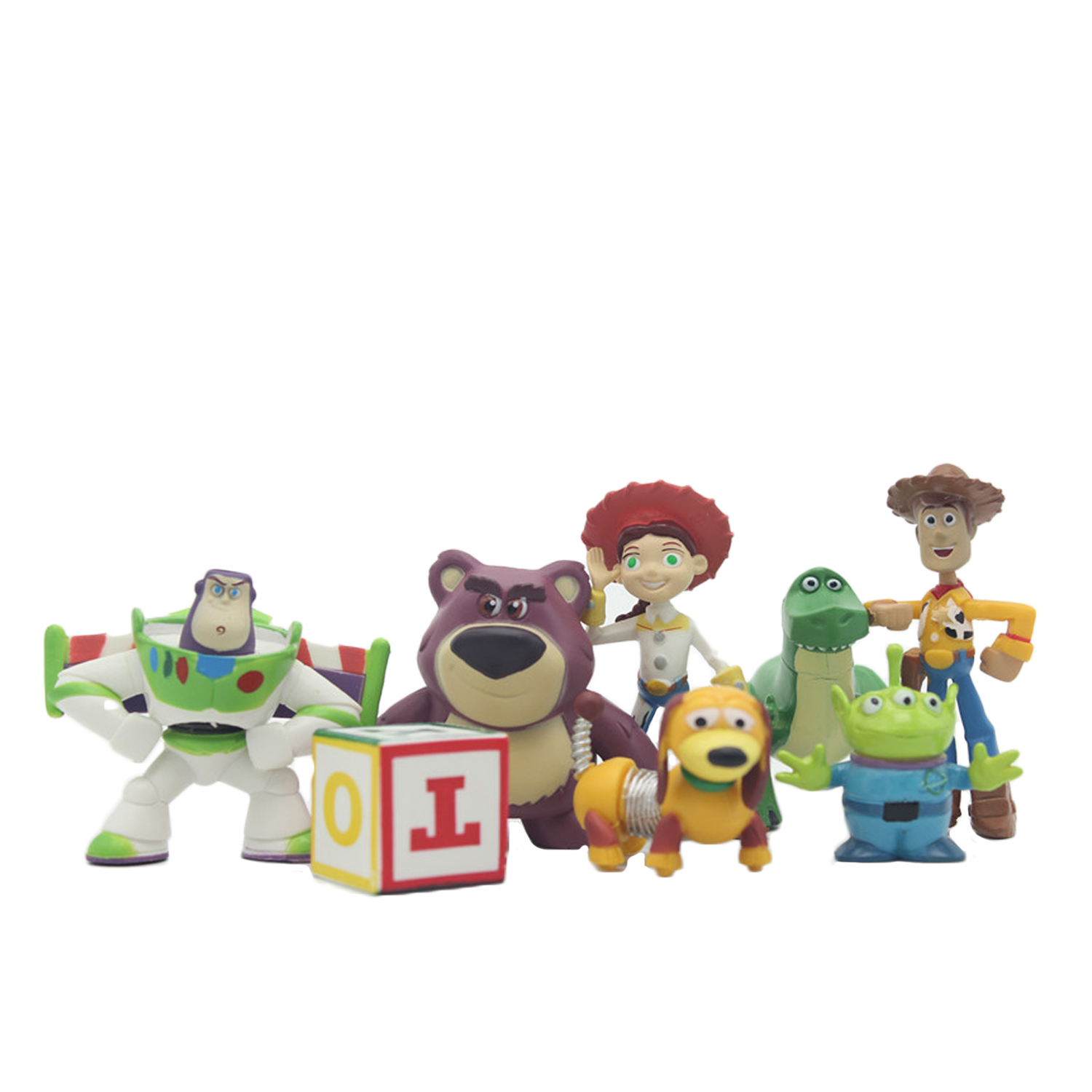 hot ! NEW 8pcs/set 5-12cm Toy Story 3 Buzz Lighter Woody Jessie action Figures PVC Action Figure Model toys Christmas gift toy(China)