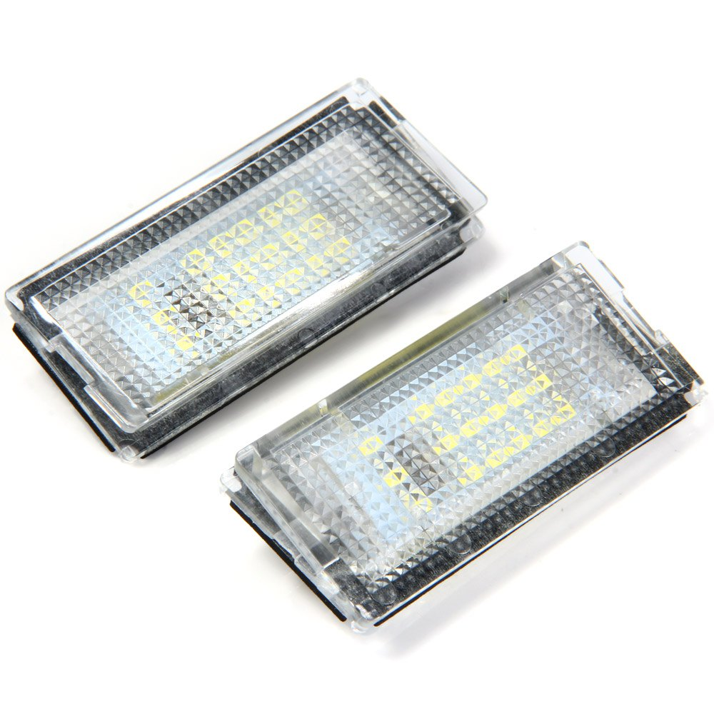 Auto License Plate Lamp Car SMD 3528 LED Light Pure White Light 1.44W 18 LEDs Number Suitable for BMW E46 4D 98 - 03  - 2pcs<br><br>Aliexpress