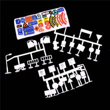 Wholesale 56pcs/set DIY model scene toy sign road sign roadblock traffic sign Toy Accessories Children Gifts For Kids(China)