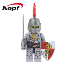 50Pcs XH 518 Super Heroes Kingdoms Knight Medieval Castle Knights Rome Bricks Set Model Building Blocks Toys for children Gift(China)