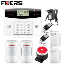 G2 GSM PSTN dual network burglar alarm system 99 wireless defense zones and 4 wired zones LCD display security alarm