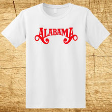 New ALABAMA Country Band Logo Men's White T-Shirt Size S-2XL 100% Cotton Men Brand Clothihng Top Quality Fashion Mens T Shirt(China)