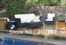 2017 Hot Sale Garden Furniture Deep Seating Wicker Outdoor Sofa Set(China)