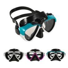 Professional Diving Silicone Mask and Snorkel Dry Snorkel Two-window Tempered Glass Mask Set for Scuba Swimming Spearfishing(China)