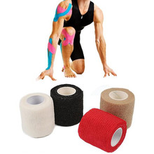 5cm X 4.5m Elastic Cotton Roll Sport Injury Muscle Strain Protection Tape Adhesive Medical Therapy First Aid Bandage Support
