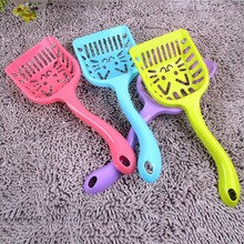 1Pcs 2018 New Pet Products Shovel Cat Litter Plastic Scoop Cat Sand Cleaning Dog Food Spoons Cat sand shovel Pet Supplies(China)