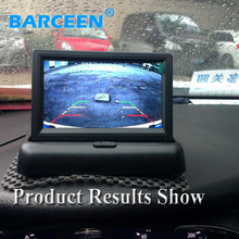 "Placement In-Dash car rear reversing display LCD Display 4.3"" hd car screen monitor for all  types car high quality low price"