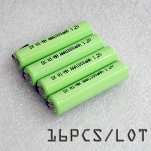 16PCS/LOT 1.2V AAA battery 1000mah 3A 10440 ni-mh rechargeable cell pins Philips Braun electric shaver razor toothbrush