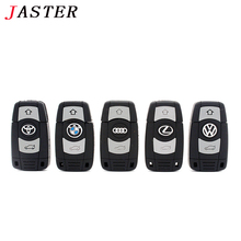 JASTER Mini Cartoon Car Key Usb Flash Drive For BMW Pen Drive 4GB 8GB 16GB 32GB 64GB Memory Stick For Audi For Benz Pendrive