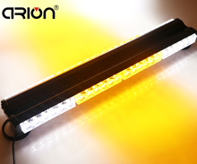 CIRION 48 LED 144W Double side Emergency Vehicle Deck Dash Grille Warning Strobe Light Bar Scanner Beacon Lamp White Amber(China)