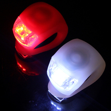 Mini Brillant Waterproof SILICON Bike Bicycle Cycling Beetle Warning Light LED Front Light Rear Tail Lamp color white red