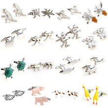 Fashion 16 Designs Kinds of Animal Cufflink Cuff Link 1 Pair Free Shipping Biggest Promotion