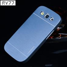 For Samsung Galaxy Case Luxury PC Frosted Frame Brushed Metal Back Type Mobile Phone Protection Cover Case For Samsung S3/9300
