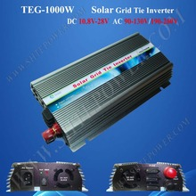 1000w Grid Tie Inverter for Solar Panel, Solar Power Invertor, DC 12v/24v to AC 190v~260v(China)