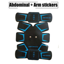 New Arrival EMS Muscle Trainer Stickers Abdominal Fitness Stimulator Belt Fitness Toner Building Arm Muscle Massager Device(China)