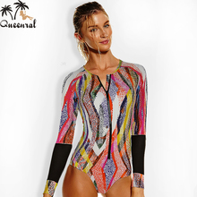one piece swimsuit Long sleeve sexy swimwear swimsuit Women swimsuit female bathing suit one piece swimming suit for women(China)