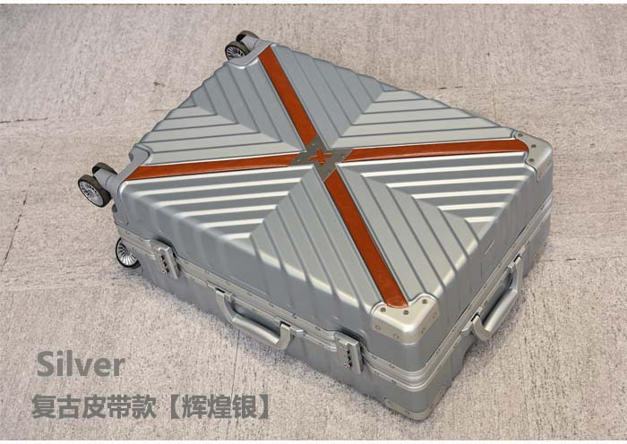 Retro Travel Trolley Luggage With X Belt Aluminum Frame Alloy Business Rolling Luggage Airplane Suitcase Spinner Wheels (14)