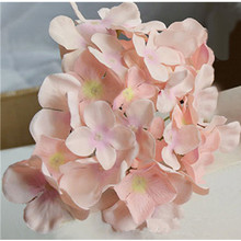 12pcs/lot Artificial Hydrangea Silk Flowers for Wedding Party Luxury MULIT COLOR DIY Decorative Flower