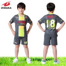 OEM kids soccer jersey,China sport children football wholesale,short sleeve,full sublimation custom(China)