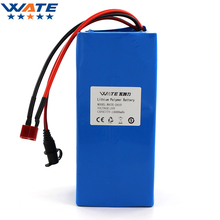 WATE 24V 10000mAh Li-ion battery pack DC 15A current discharge 24V li-ion polymer battery With 29.4V2A charger(China)