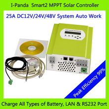 LCD MPPT 25A 48V MPPT PV Regulator, Solar battery charger controller charge Vented, Gel, NiCd, Sealed Lead Acid battery Etc