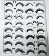 100% 3D Top Luxury Mink Lashes 40Pairs/lot Eyelashes Extension Custome boxes Mix Style Please Let Us Message About P Catalogue