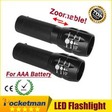 1pcs Mini 2000Lumens LED Flashlight Camping hiking fishing hunting cycling highlighted Torch laser Lamp Light Zoomable(China)