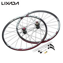 26'' 24H Disc Brake Bike Wheel Mountain Bicycle MTB Bike Wheelset Hubs Rim Front Rear Bicycle Wheel Set(China)