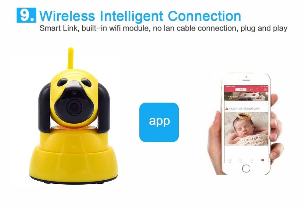 Wistino 720P Wireless IP Camera Motion Detection Home Baby Monitor IR Night Vision WiFi Camera Alarm Onvif Surveillance Security (16)