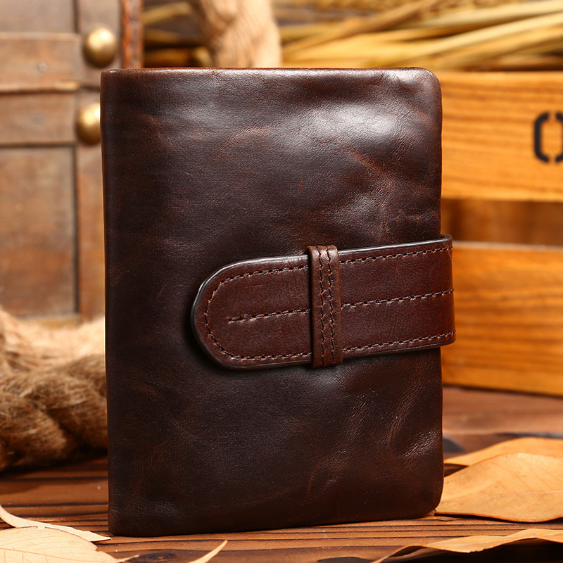 Genius Leather Men Wallets  2015 New Arrive Famous Brand Design First Layer Of Skin Retro Hasp Cowhide Money Male Purse Wallets<br><br>Aliexpress