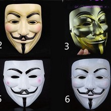 New anonymous mask Guy fawkes mask masquerade party Vendetta Guy Fawkes mask dance Halloween Horror Carnaval Costume