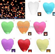 New Arrive Heart-shaped Chinese Flying Sky Lanterns wishing lamp for wedding etc