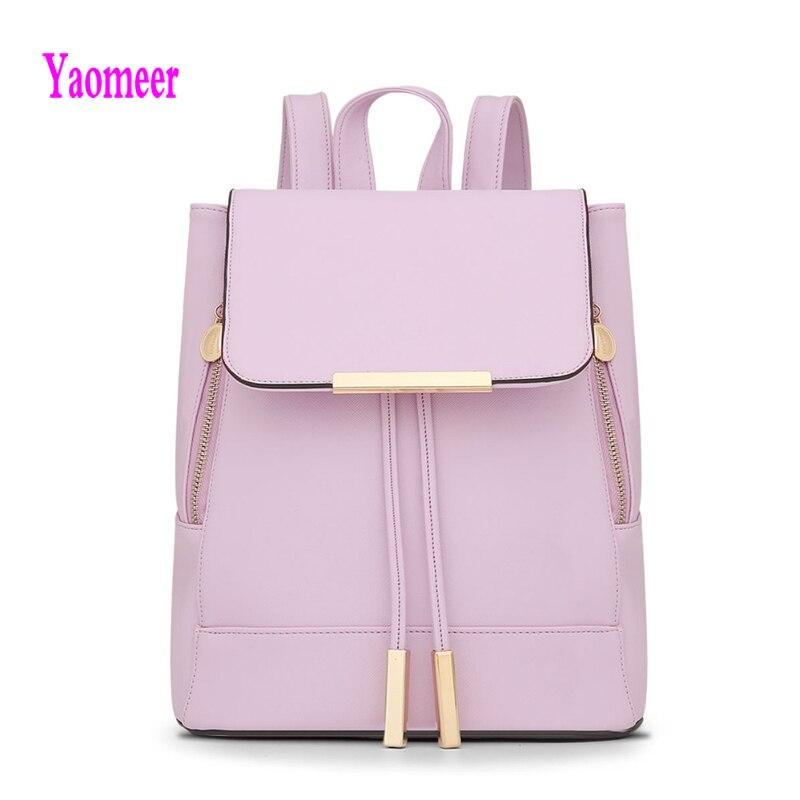 Hot Sale Women Backpack Fashion Korean String Bagpack High Quality Pu Leather Hasp Shoulder Bag Luxury Pink Black Bags a19<br><br>Aliexpress