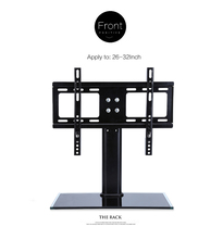 "26""-32"" Cantilever Black Glass TV Stand with Bracket for LCD LED Stand new"