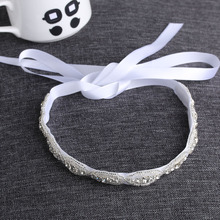 1 PC 2016 Lovely Baby Girls Princess Flower Hairband Kids Children Rhinestone Headband Headwear Elastic Hair Band Accessories