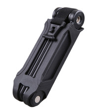 High Strength 800mm Bicycle Bike Folding Link Plate Lock + Key Security Anti-Theft Anti-Saw + Drill Steel Alloy ABS Motorcycle