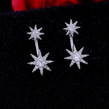 Star Earring Crystal From Swarovski Time-limited Plant 2017 New Sale Wholesale European Jewelry Selling Angel Wings(China)