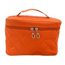 TEXU 5 X Zipper Cosmetic Storage Make up Bag Handle Train Case Purse-S orange(China)