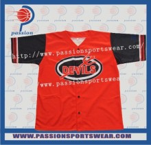 Sublimation Baseball team full buttons baseball jerseys