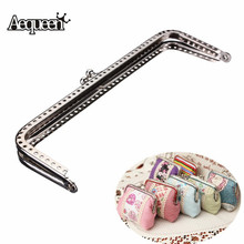 AEQUEEN 15cm Cute Useful Metal Silver Sewing Handbag Handle Clutch Coin Purse Frame Kiss Clasp Arch for Bag Accessories DIY Hasp(China)