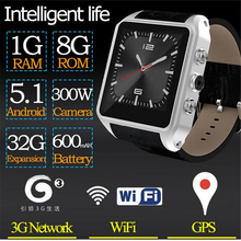 X01 Plus Smart Watch Android 5.1 Wristwatch 1G+8G GPS+3G+WiFi Support SIM Card Touch Screen Smartwatch Phone 720p Camera For iOS