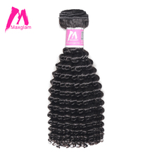 Maxglam Malaysian Afro Kinky Curly Human Hair Weave Bundles Natural Color Remy Hair Extension 1PC Free Shipping