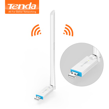 Tenda U2 150Mbps High Gain Wireless Network Adapte, External USB Network Card, Portable Wi-Fi Hotspot Receiver, Plug and Play